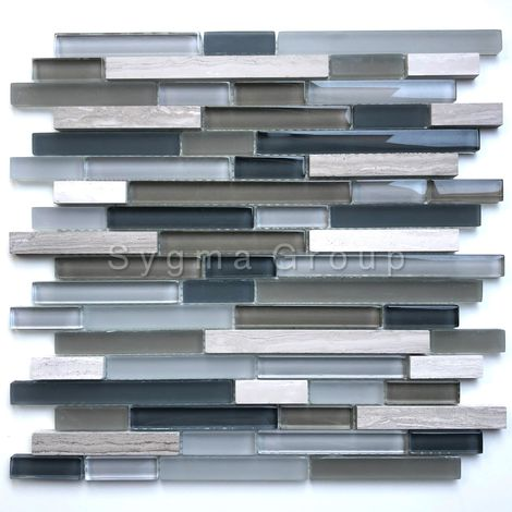 Kitchen backsplash or bathroom wall tiles mosaic Kiyo