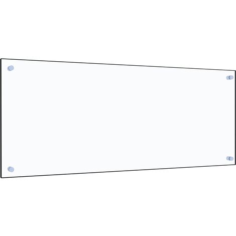 Kitchen Backsplash Transparent 100x40 cm Tempered Glass