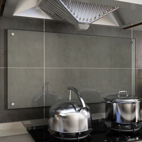 Kitchen Backsplash Transparent 100x50 cm Tempered Glass