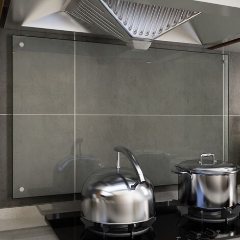Kitchen Backsplash Transparent 100x60 cm Tempered Glass