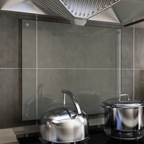 Kitchen Backsplash Transparent 70x60 cm Tempered Glass