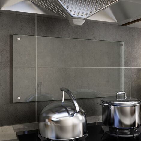 Kitchen Backsplash Transparent 80x40 cm Tempered Glass