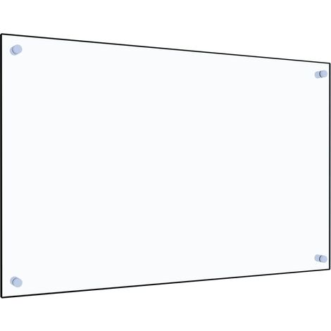 Kitchen Backsplash Transparent 80x50 cm Tempered Glass