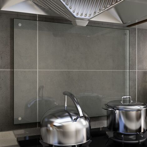 Kitchen Backsplash Transparent 80x60 cm Tempered Glass