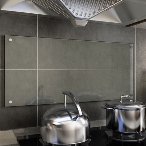 Kitchen Backsplash Transparent 90x40 cm Tempered Glass