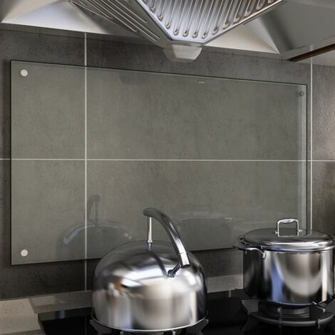 Kitchen Backsplash Transparent 90x50 cm Tempered Glass
