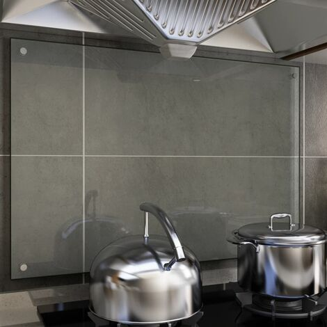 Kitchen Backsplash Transparent 90x60 cm Tempered Glass