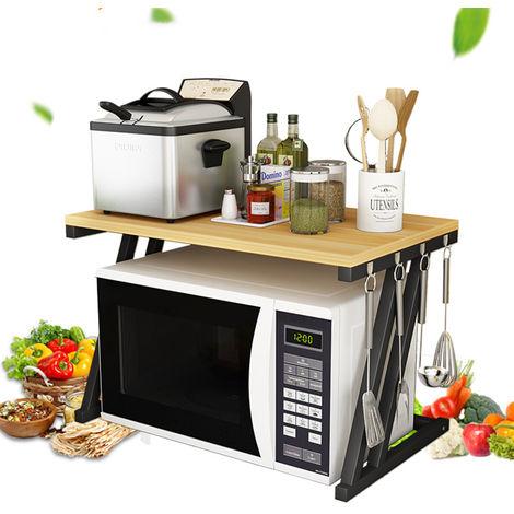 Kitchen Bakery Rack Microwave Cabinet Furniture Trolley Drawer Shelf Furniture Hasaki
