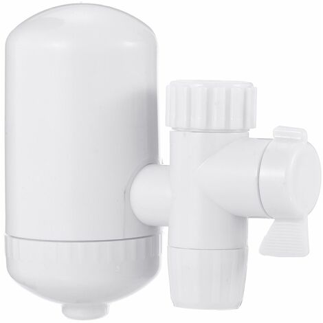 Kitchen Bar Bathroom Faucets Water Filter System Sink Filtration Purifier White