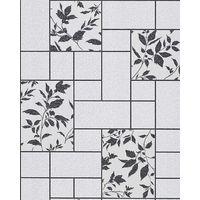 Kitchen bath vinyl wallpaper wall modern tile floral decor EDEM 146-20 light grey whitegrey anthracite 5.33 sqm (57 sq ft)