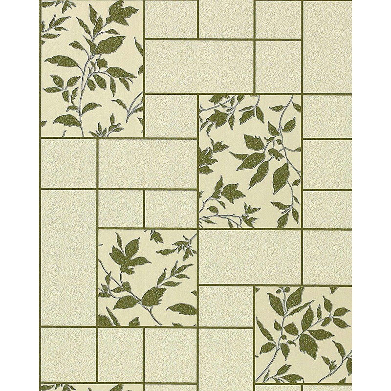 Kitchen Bath Vinyl Wallpaper Wall Modern Tile Floral Decor Edem 146