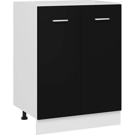 Kitchen Cabinet Black 60x46x81.5 cm Chipboard