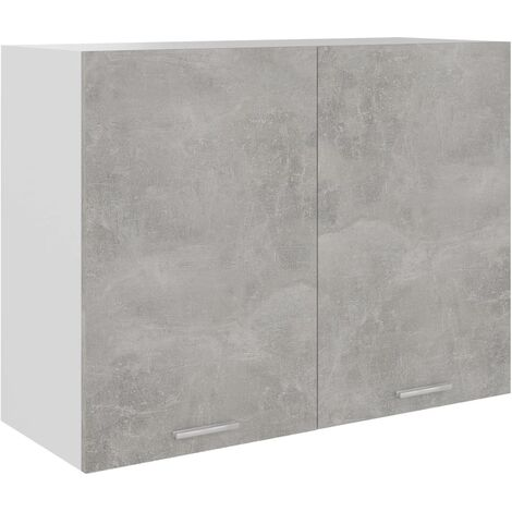 Kitchen Cabinet Concrete Grey 80x31x60 cm Chipboard