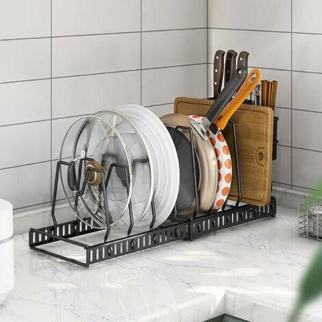 Kitchen Cabinet Cupboard Storage Organiser Pan Stand Saucepan Pot Rack Holder