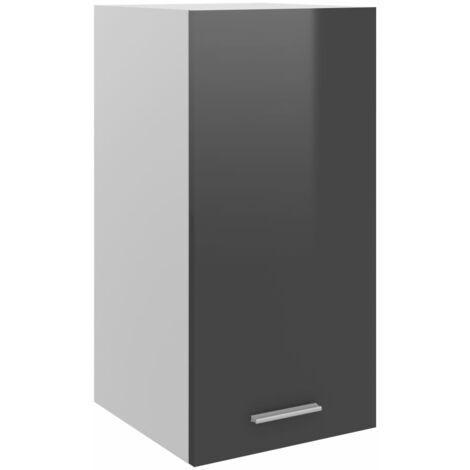 Kitchen Cabinet High Gloss Grey 29.5x31x60 cm Chipboard