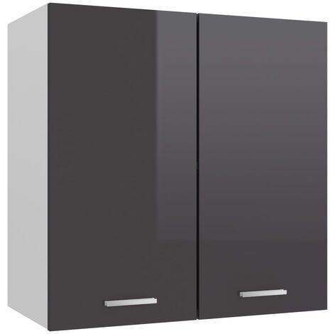Kitchen Cabinet High Gloss Grey 60x31x60 cm Chipboard