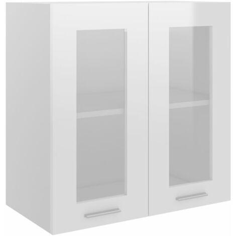 Kitchen Cabinet High Gloss White 60x31x60 cm Chipboard