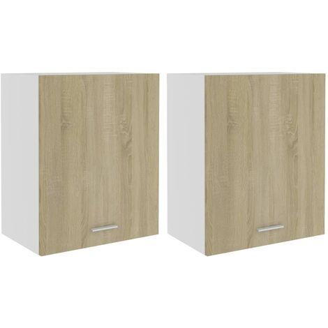 Kitchen Cabinets 2 pcs Sonoma Oak 50x31x60 cm Chipboard
