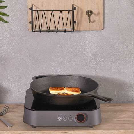 Kitchen Cast Iron Non-stick Frying Pan Enamel BBQ Grill Skillet Induction Bottom