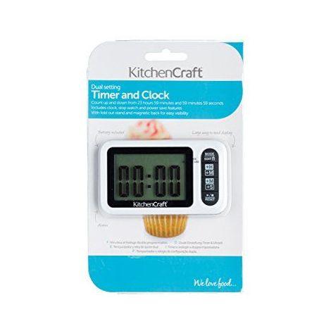 Kitchen Craft-Minuteur et horloge de cuisine Digitale-Heures et minutes ou minutes et secondes Affichage