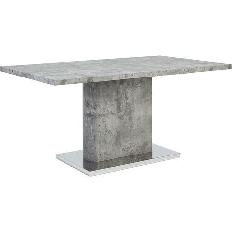 "main image of ""Kitchen Dining Pedestal Table 6 People Concrete Grey Pasadena"""