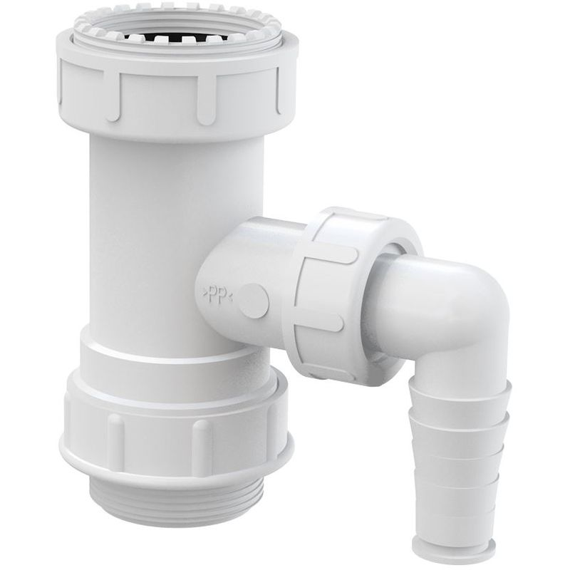 Image of Kitchen Drain Waste Trap Adapter Pipe 5/4' with Dishwasher Connector Inlet Input