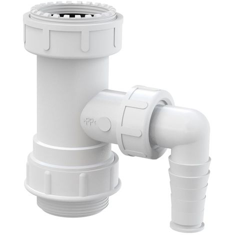 """Kitchen Drain Waste Trap Adapter Pipe 5/4"""" with Dishwasher Connector Inlet Input"""