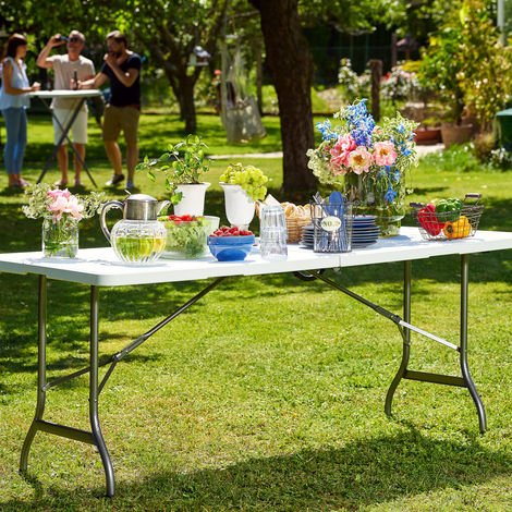 Kitchen Garden Table Foldable Outdoor Party Buffet Bbq 6 Ft