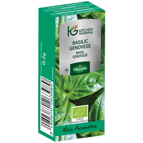 Kitchen Gardening - Basilic Genovese BIO