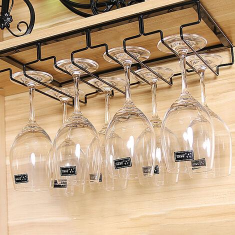 Kitchen Living Bar Hanging Cup Holder Wine Glass Frame Upside Down Wine Racks