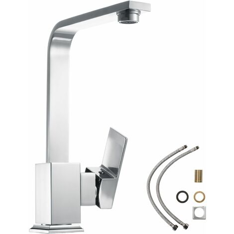 Kitchen mixer tap rotatable 360° - faucet tap, kitchen tap, kitchen mixer tap - gris