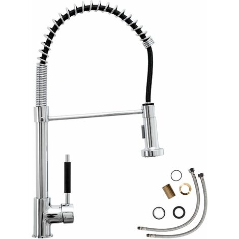 Kitchen mixer tap with detachable spray - faucet tap, kitchen tap, kitchen mixer tap - grey