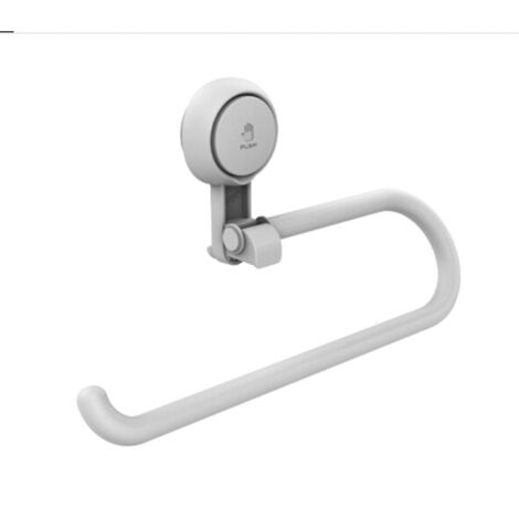 Kitchen paper towel rack Wall-mounted paper holder cookware Shelf without perforation Storage supplies for single white kitchen hook 1 Package