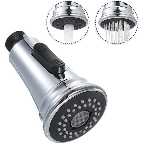 Kitchen pull shower replacement head with check valve 1/2 connector