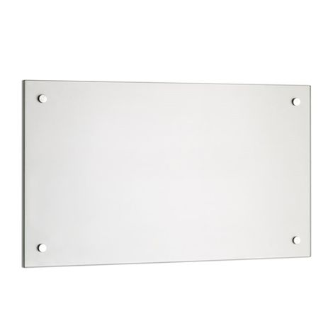 Kitchen rear wall Splash protection Tile mirror Kitchen wall 6mm ESG protection Glass - 80x40CM