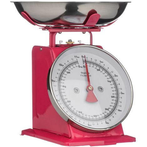 Kitchen Scale,Hot Pink/Stainless Steel,5kg