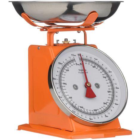 Kitchen Scale,Orange/Stainless Steel,5kg