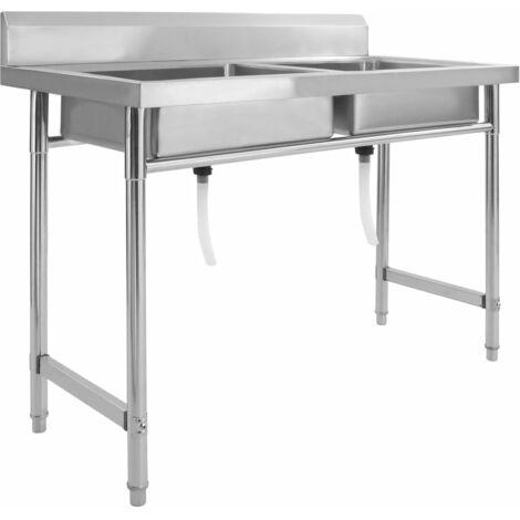 Kitchen Sink Double Basin Stainless Steel