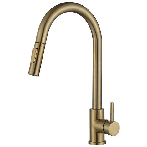 """main image of """"Kitchen sink Faucet Sensor 2 Water Pipes Gold"""""""