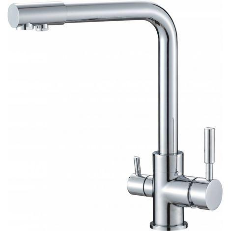 Kitchen sink mixer, three-way filter
