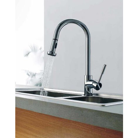 """main image of """"Kitchen Sink Pull Out Spray Mono Mixer Tap Chrome"""""""
