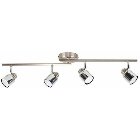 Kitchen Spotlight Chrome 4 Way Adjustable GU10 Ceiling Light