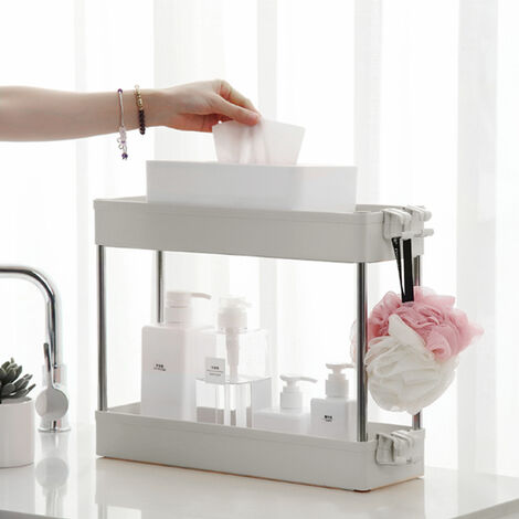 Kitchen Storage Rack Caddy Shelf Organiser Slim Slide 4 Tier Bathroom Trolley Holder