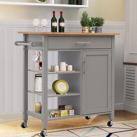 Kitchen Storage Trolley Cabinet Sideboard Buffet Breakfast Carts