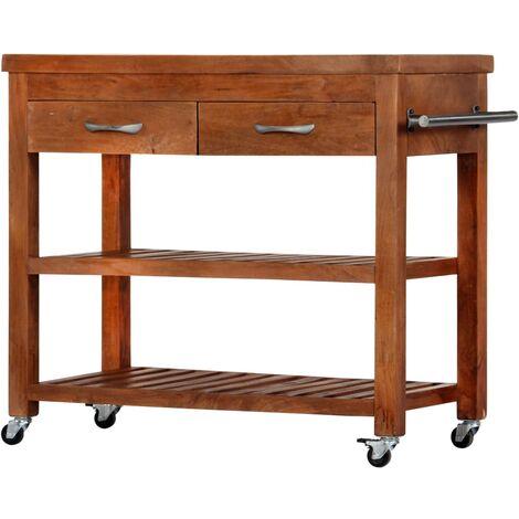 Kitchen Trolley 100x48x89 cm Solid Acacia Wood