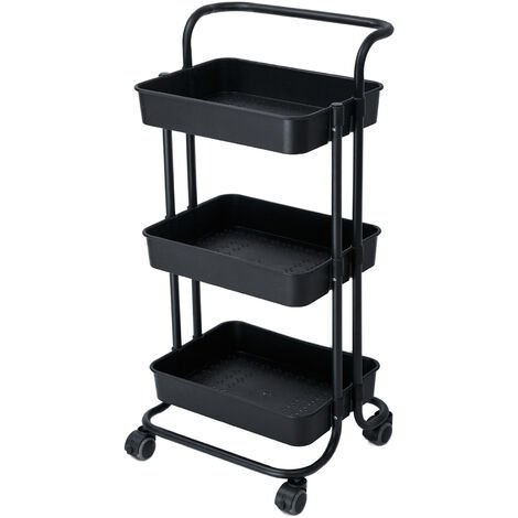 Kitchen trolley baby supplies storage trolley, three layers