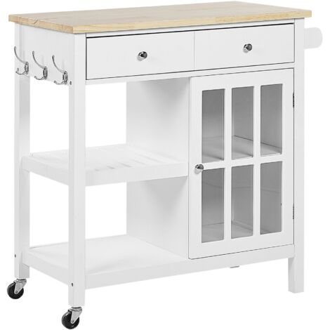Kitchen Trolley White GENOA
