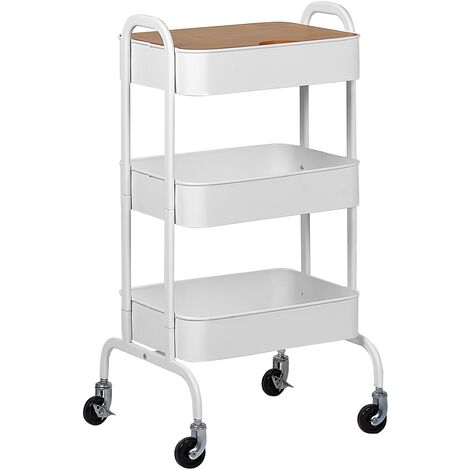Kitchen Trolley White LUCCA