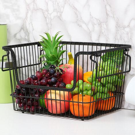 Kitchen Vegetable Fruit Storage Rack Wire Basket Stackable/Hanging Organizer