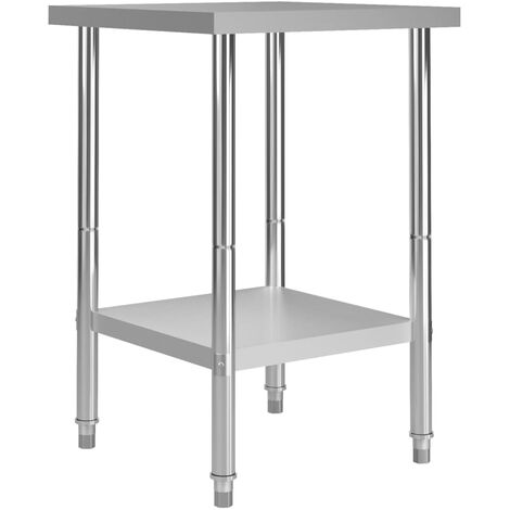 Kitchen Work Table 60x60x85 cm Stainless Steel